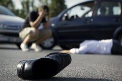 Auto wypadek obraz royalty free