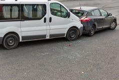 Auto wypadek wymaga dwa samochodu obrazy royalty free