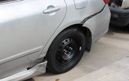 Auto zerquetscht Stockbild
