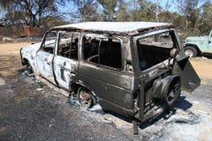 Auto zerstört Lizenzfreies Stockbild