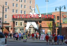 Auto Zone Park Home of the Memphis Redbirds Baseball Team Stock Images
