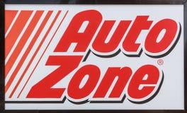 Auto Zone Sign Stock Image