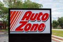 Auto Zone Sign Stock Photo