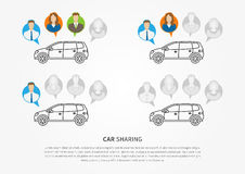 Auto, zum des Grafikdesigns zu teilen lizenzfreie abbildung
