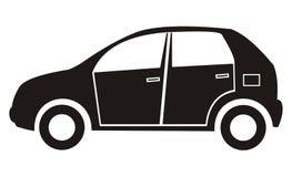 Auto, zwart silhouet Royalty-vrije Stock Afbeeldingen