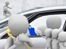 Autoaandeel, carsharing stock foto's