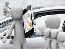 Autoaandeel, carsharing royalty-vrije illustratie