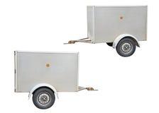Autoaanhangwagen op witte ACHTERGROND wordt geïsoleerd die Royalty-vrije Stock Fotografie