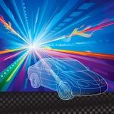 Autoachtergrond stock illustratie