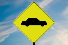 Autoachtungzeichen Stockfotografie