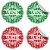 Autoadesivi approvati e rifiutati Royalty Illustrazione gratis
