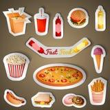 Autoadesivi degli alimenti a rapida preparazione illustrazione vettoriale