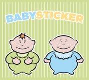autoadesivi dei neonati royalty illustrazione gratis
