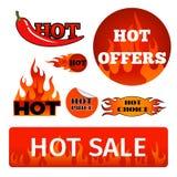 Autoadesivi dei prezzi di vendita calda del prodotto del negozio dei distintivi di vettore i migliori comprano il vettore di prom Fotografia Stock Libera da Diritti