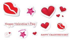 Autoadesivi del biglietto di S. Valentino royalty illustrazione gratis
