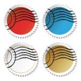 Autoadesivi del bollo di vettore illustrazione vettoriale
