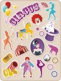 Autoadesivi del circo Fotografia Stock Libera da Diritti