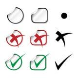 Autoadesivi del segno di spunta di vettore illustrazione vettoriale