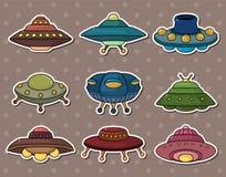 Autoadesivi del UFO Immagine Stock Libera da Diritti