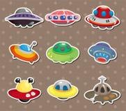 Autoadesivi del UFO Fotografia Stock