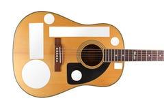 Autoadesivi dell'illustrazione della chitarra acustica   Immagini Stock Libere da Diritti