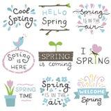 Autoadesivi della primavera fotografia stock
