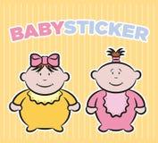 autoadesivi delle neonate Immagini Stock Libere da Diritti