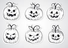 Autoadesivi delle zucche di Halloween Immagini Stock Libere da Diritti