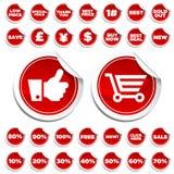 Autoadesivi di acquisto e di vendita royalty illustrazione gratis
