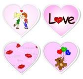 Autoadesivi di amore - insieme 2 illustrazione di stock