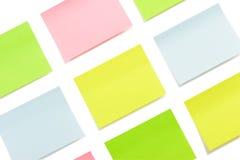 Autoadesivi di carta multicolori isolati Immagini Stock