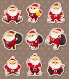 Autoadesivi di natale del Babbo Natale del fumetto Fotografia Stock