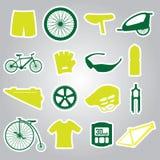 Autoadesivi di riciclaggio eps10 dell'icona Illustrazione Vettoriale