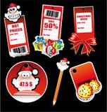 Autoadesivi di saluti della Santa per la modifica e la scheda royalty illustrazione gratis
