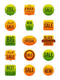Autoadesivi di vendita di autunno Immagine Stock Libera da Diritti