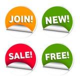 Autoadesivi di vendita di commercio Fotografia Stock Libera da Diritti