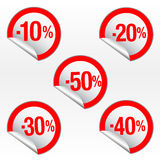 Autoadesivi di vendita di vettore Immagini Stock Libere da Diritti