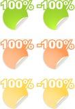Autoadesivi di vettore con le percentuali del testo illustrazione di stock