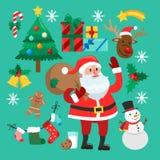 Autoadesivi divertenti di Natale royalty illustrazione gratis