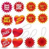 Autoadesivi e contrassegni di vendita Fotografia Stock