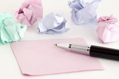 Autoadesivi e penna Fotografie Stock