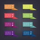 Autoadesivi ed etichette della bandiera della carta di vettore con le ombre realistiche per l'insieme infographic Fotografia Stock