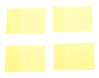 Autoadesivi gialli Immagine Stock Libera da Diritti