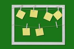 Autoadesivi gialli per i ricordi Immagine Stock