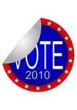 Autoadesivo 2010 di voto Fotografie Stock Libere da Diritti