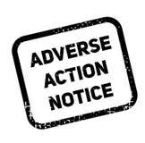 Autoadesivo avverso di pubblicità dell'avviso di azione royalty illustrazione gratis