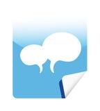 Autoadesivo blu di Web di vettore Immagini Stock Libere da Diritti
