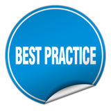 Autoadesivo blu rotondo di best practice Illustrazione di Stock
