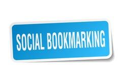 autoadesivo bookmarking sociale illustrazione di stock