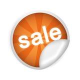Autoadesivo con la vendita dell'iscrizione Immagini Stock